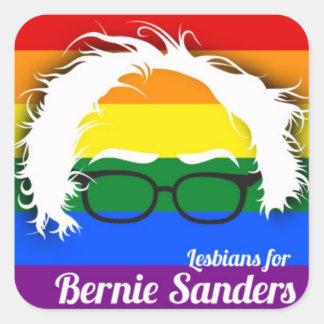 Lesbisk pride för Bernie slipmaskiner Fyrkantigt Klistermärke