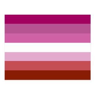 Lesbisk prideflagga vykort