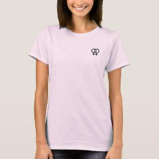 lesbiska symbolkvinna t-skjorta tröjor