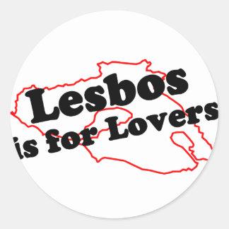 Lesbos är för älskare runt klistermärke