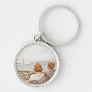 Lesley & Alis bröllop Keychain Rund Silverfärgad Nyckelring