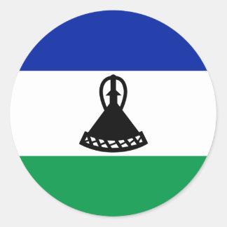 Lesothisk flaggaklistermärke runt klistermärke