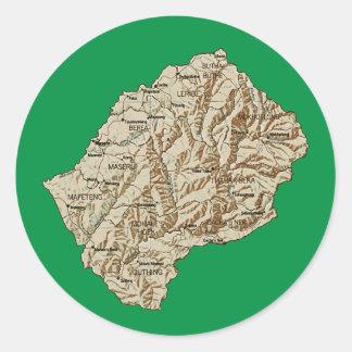 Lesothisk kartaklistermärke runt klistermärke