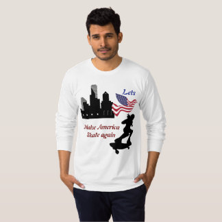Lets gör Amerika att åka skridskor igen Tee Shirt