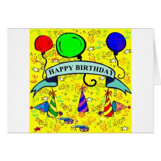 Letss har ett party! hälsningskort