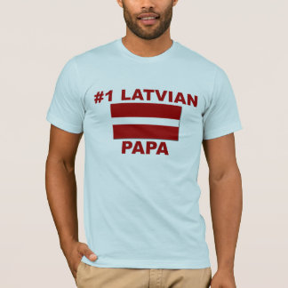 Lettisk pappa #1 t-shirt