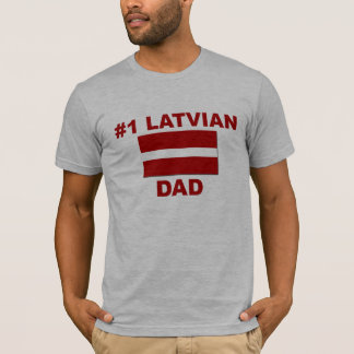 Lettisk pappa #1 t shirts