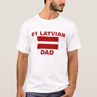 Lettisk pappa #1 tee shirts