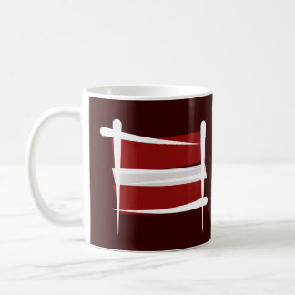 Lettland borstar flagga kaffemugg