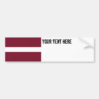Lettland flagga bildekal