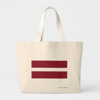 Lettland flagga jumbo tygkasse