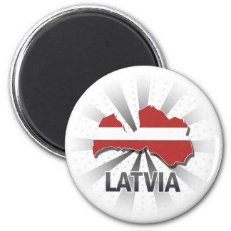 Lettland flaggakarta 2,0 magnet