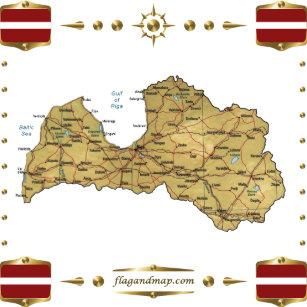 Lettland Karta Europa.Latvia Flagga Presenter Zazzle Se