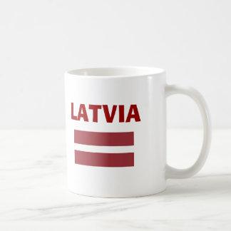 Lettland LV-land kodifierar muggen Kaffemugg