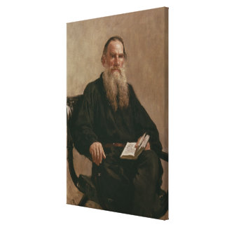 Lev Tolstoy 1887 Canvastryck