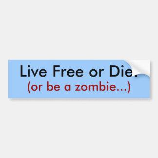 Levande fritt eller matris! , (eller var en zombie bildekal