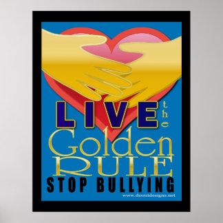 levande gyllene regelstopppennalism poster