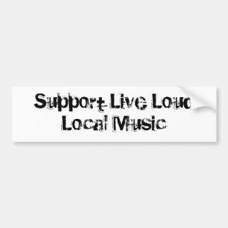 Levande hög lokalmusik för service bildekal