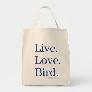 Levande. Kärlek. Bird. Mat Tygkasse