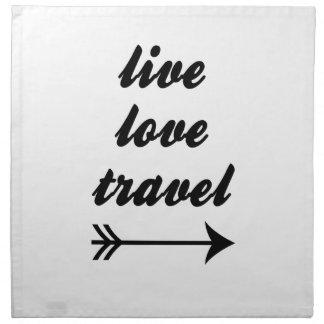 Levande kärlek reser tygservett