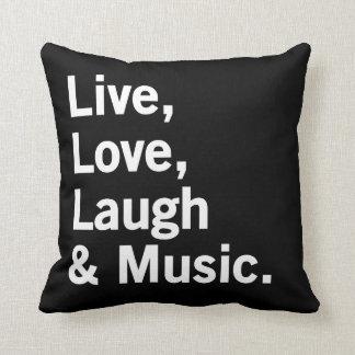 Levande, kärlek, skratt & musik kudde