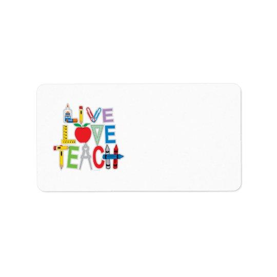 Levande kärlek undervisar adressetikett