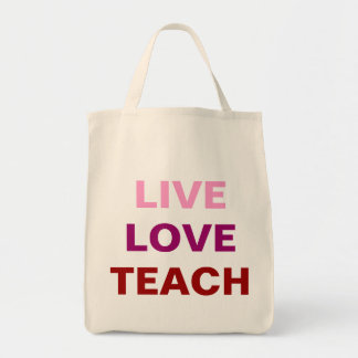 Levande kärlek undervisar hänger lös tygkasse