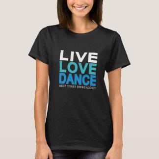 Levande kärlekdans - västkustengunga t-shirts