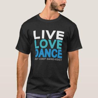 Levande kärlekdans - västkustengunga tee shirt