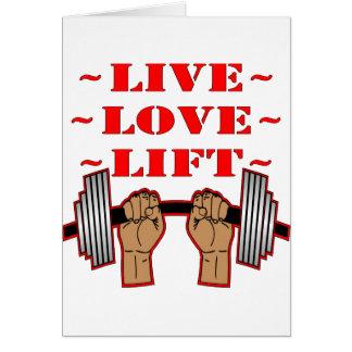 Levande kärlekhiss för Weightlifting Hälsningskort