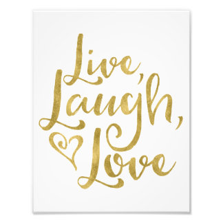 Levande skratt, kärlek fototryck