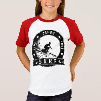 Levande skrattkärleksurfa 2 (svarten cirklar), t shirt