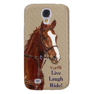 Levande skrattritt! Häst Galaxy S4 Fodral