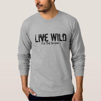 Levande vild, fet pojke utomhus tshirts
