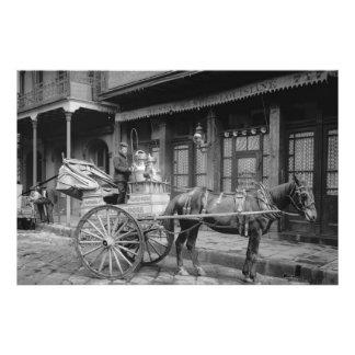 Leverans för vintageNew Orleans mjölk Fotografiskt Tryck