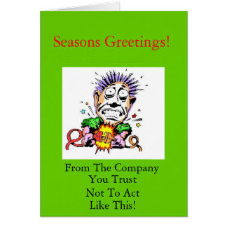 Leverantörs julaftonkort hälsningskort