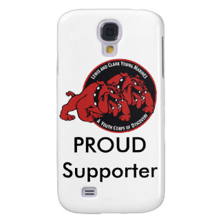 Lewis & Clark ung marin- stolt supporter (vit) Galaxy S4 Fodral