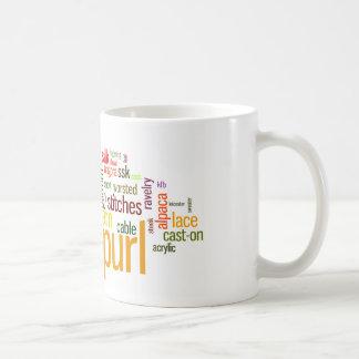 Lexicon för stickaporlandehandarbete för Knitters Kaffemugg