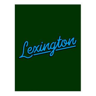 Lexington i cyan vykort