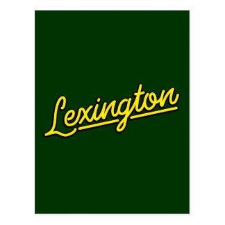 Lexington i gult vykort