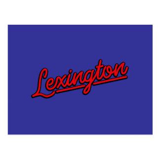 Lexington i rött vykort