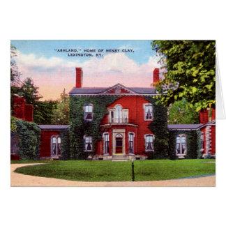 Lexington Kentucky Ashland, hem av Henry Clay Hälsningskort