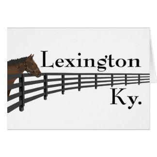 Lexington Kentucky häst och staket Hälsningskort