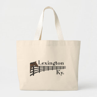 Lexington Kentucky häst och staket Jumbo Tygkasse