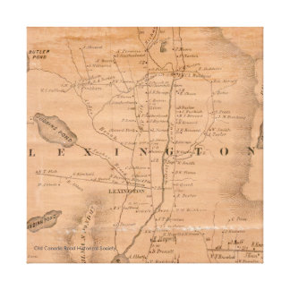 Lexington Maine - karta 1860 Canvastryck