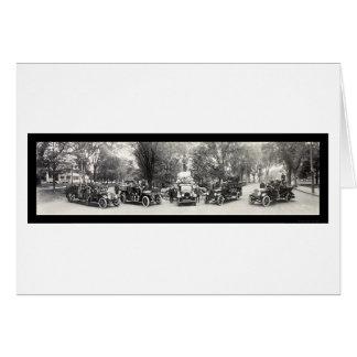 Lexington MORSOR avfyrar avdelnings-fotoet 1921 Hälsningskort