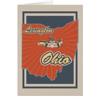 Lexington Ohio hälsningkort - resa trycket Hälsningskort