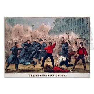 Lexingtonen av 1861 vid den Ives inbördeskriget Hälsningskort