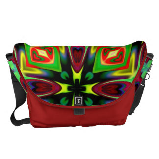Lg. Messenger bag i Kaleidoscopedesign
