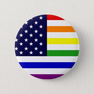LGBT/gay pride USA knäppas Standard Knapp Rund 5.7 Cm